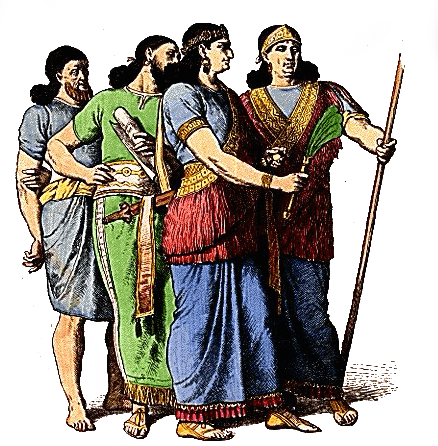 Assyria - Assyrian Commoners, Court Official and Nobleman (Plate 3a)