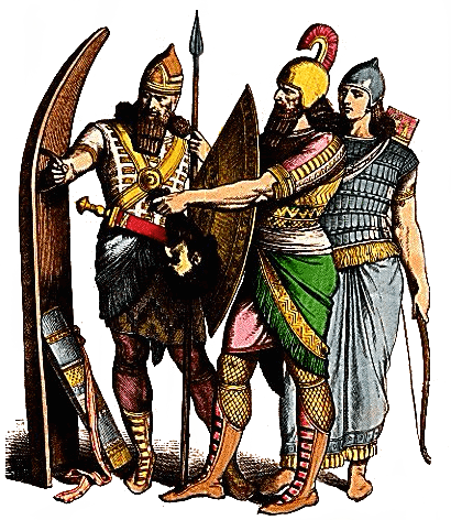 Assyria - Assyrian Soldiers and Archer (Plate 3b)