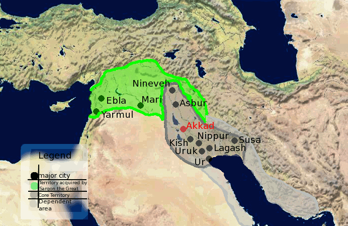 Akkadian Empire - Akkadian Empire Territories Map