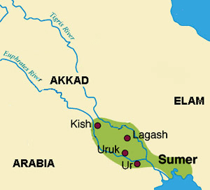 Cultures - Sumer Map