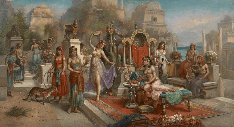 Assyria - Hanging Gardens of Semiramis (H. Waldeck c. 1900)