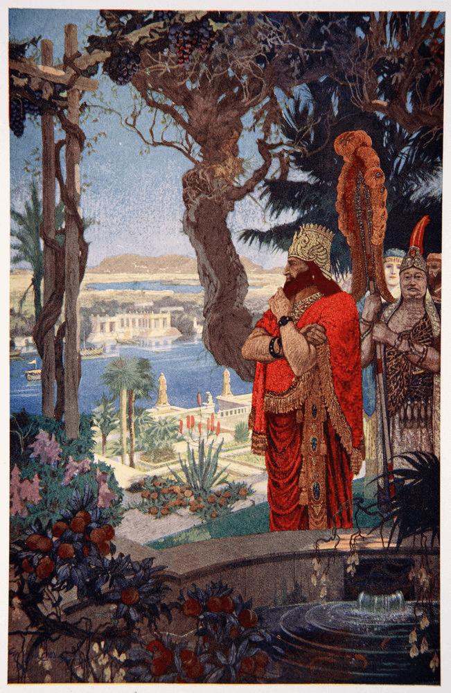 Babylonia - Nebuchadnezzar II in the Hanging Garens (Ernest Wellcousins)