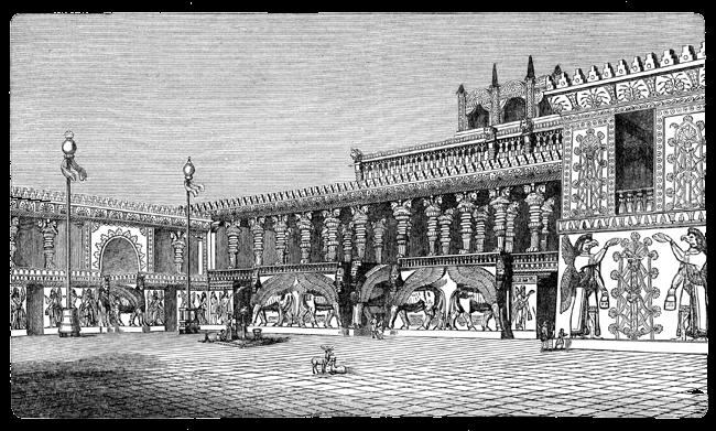 Assyria - Palace of Sargon Drawing