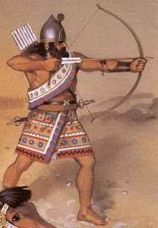 Assyria - Assyrian Archer Drawing